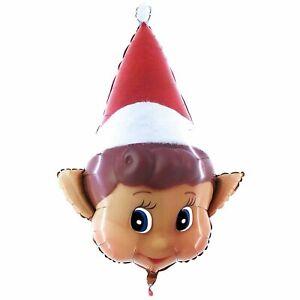 """Christmas Elf head balloon FOR DIY Kit Helium or Air  34"""" xmas foil Elf arrival"""