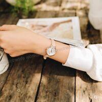 NWT 🌸 Fossil ES4411 Jacqueline Mini Three-Hand Blush Pink Leather 26mm Watch