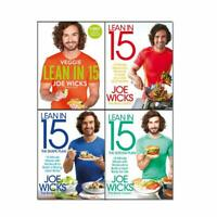 Joe Wicks Lean in 15 Collection 4 Books Set pack Veggie Meals with Workouts NEW