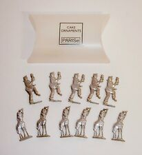 Silver Metal Cake Toppers~ORNAMENTS Decor~CIRCUS THEME~Parise~NEW IN BOX