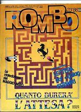 ROMBO #Anno 6 N.23/268 4 Giugno 1986 #EDISTART-Rivista Settimanale