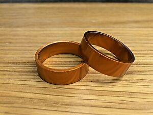 2 x Anodised Bronze / Gold 10mm 1 1/8th alloy a-headset spacers threadless #213