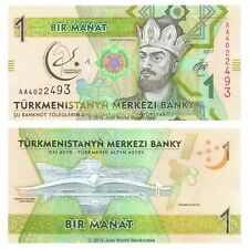 Turkmenistan 1 Manat 2017 P-36 First Prefix Banknotes UNC