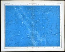 MAPS OF THE STARS #4 1856 Alex Johnston ANTIQUE CHART