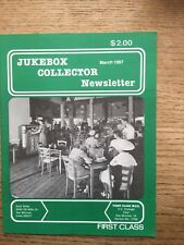 """Jukebox Collector Newsletter March 1987 114th """"New"""" Plastic Protective Cover"""