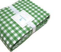 Pottery Barn Kids Multi Colors Green Check Organic Cotton Queen Sheet Set New
