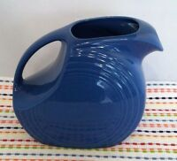 Fiestaware Lapis Large Disc Pitcher Fiesta Blue Large Water Pitcher