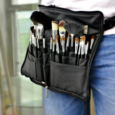 28 Pocket Makeup Bag Pu Leather Cosmetic Brushes Case Artist Belt Strap Holder