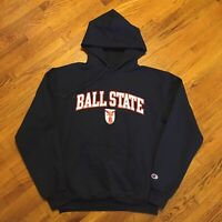 VTG 90s Champion Hoodie Mens Medium Ball State College University Streetwear OG