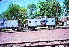 Original Slide CB&Q 13668 Caboose P Burlington Northern BN 1976