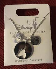 Disney Parks Cinderella Castle Home Coordinates Swarovski Crystal Necklace NEW