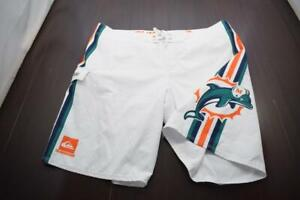 Quiksilver Board Shorts NFL Miami Dolphins Athletic Water Swim Mens Size 40