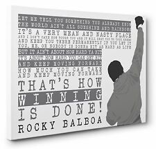Rocky Balboa Inspiring Movie Quote Framed Canvas Print Wall Art 20x30 inches New