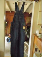 New Dark Blue Jeans, Size 2XL 100% Cotton Denim Bib Overalls, 42 X 32 w/Tags