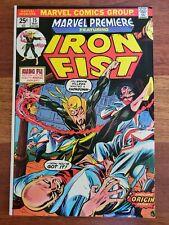 1974 Marvel Premiere Iron Fist #15, 1st appearance Origin issue! MVS Intact