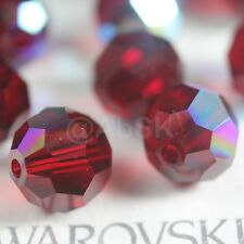 8 Pieces Swarovski 5000 faceted 10mm Round Ball Beads Crystal SIAM AB