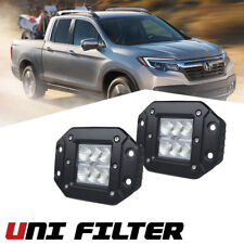 2x 3 inch Flush Mount Pods Reverse Cube LED Work Light Fit Ford ATV UTV Jeep GMC