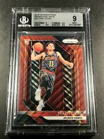 TRAE YOUNG 2018 PANINI PRIZM #78 RUBY WAVE REFRACTOR ROOKIE RC BGS 9 HAWKS (B)