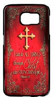 For Samsung Galaxy S6 S7 Edge Bible Verse Cross Christian New Pattern Case Cover