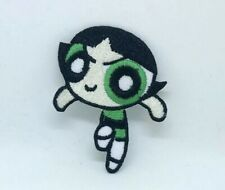 The Powerpuff Girls superhero cartoon Green Iron/Sew on Embroidered Patch