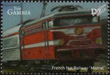 """La SNCF (France) Classe BB 9200 """"LE MISTRAL"""" locomotive électrique train Stamp"""
