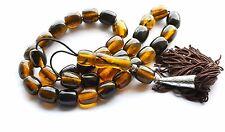 NEW WORRY PRAYER BEADS TESBIH (IMITATION AMBER) 33 + 1 87 grams