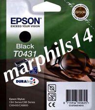GUARNIZIONE/Nero ORIGINALE EPSON T0431 Cartuccia di inchiostro ad alta capacità