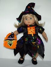 "Halloween costume dress hat shoes bag for 15"" American Girl Bitty Baby doll"