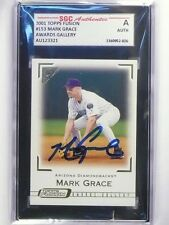 2001 Topps Fusion Mark Grace Autograph auto SGC Authentic Slabbed *48572