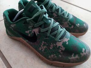Nike Mens Metcon 3 852928-008 Green  Camo Running Shoes excellent 8.5 men