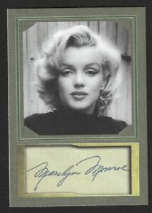 MARILYN MONROE - ACEO TRADING CARD WITH AUTOGRAPH REPRO - MINT CONDITION