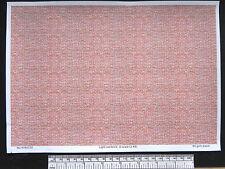 O gauge (1:48 scale) light red brick -  paper - A4 sheet (210 x 297 mm)