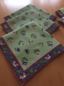 "April Cornell Set of 6 Napkins 100% Cotton 16""x16"""