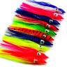 "2.36""-6"" Octopus Squid Skirt Lures Bait Hoochies Saltwater Soft Fishing Lures"