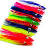 50pcs Octopus Squid Skirt Lures Bait Hoochies Saltwater Soft Fishing Lure 3in
