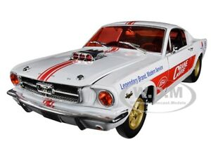 "Box Damaged 1965 FORD MUSTANG FASTBACK 2+2 WHITE ""CRANE CAMS"" 1/24 M2 40300-68 A"