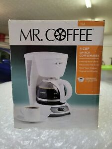 Mr Coffee TF4 White 4 Cups Coffeemaker - New in Box - Old Stock