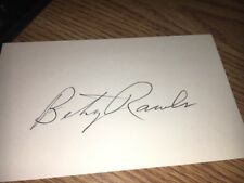 Betsy Rawls HOFer Signed 3x5 Index Card