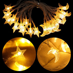 LED Christmas Tree Fairy String Lights Outdoor Decorations moon star Decor Party
