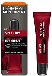 LOréal Paris Mens Expert Vita Lift Anti-Ageing Eye Cream, 15ml