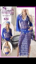 Egyptian New Belly Dance Dress, Saidi Costume,Baladi Galabeya + YASHMAK GIFT