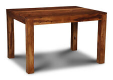 DINING ROOM 120CM CUBA SHEESHAM DINING TABLE (C17W)