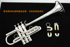 Professional trumpet Eb/D key Silver Trumpet New +case