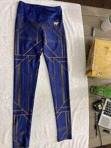 Goldsheep Leggings S Blue Patterned Very Unique