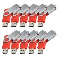 Lot 10 4G 4GB USB Flash Drive Memory Pen Key Stick Bulk Wholesale Red 03