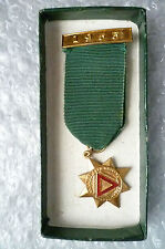 Medal- 10 years Safe Driving Medal 1953 maker P & Sons (with Org Box,Genuine*)