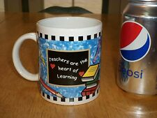 """""""Teachers are the Heart of Learning"""", School, Ceramic Coffee Cup / Mug, Vintage"""