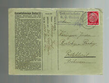 1941 Germany Dachau Concentration Camp Cover to Roztoky Bohemia Josef Haring KZ