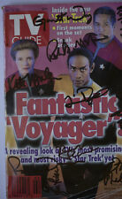 Fantastic Voyager Cast Autographed TV Guide Rare Star Trek Lovers Collectible