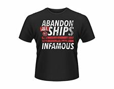 ABANDON ALL SHIPS INFAMOUS T SHIRT NEW OFFICIAL Band t-shirt Unisex Small